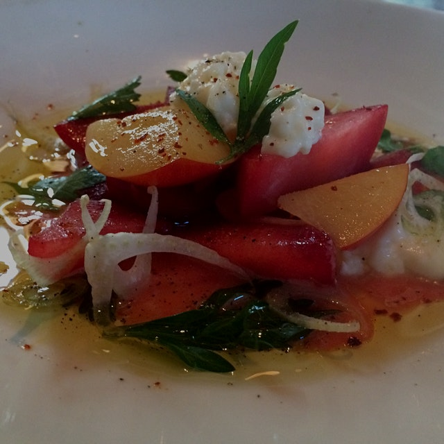 Stone fruit salad.