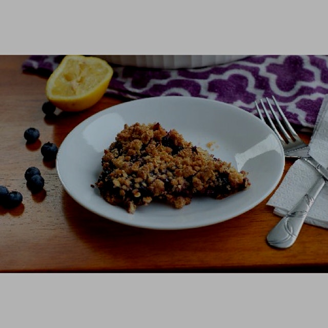 The latest recipe on my food flog, Blueberry Oatmeal Crumble Bars