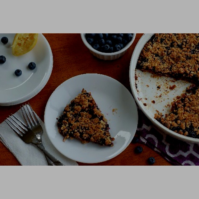 The latest recipe on my food blog, Blueberry Oatmeal Crumble Bars