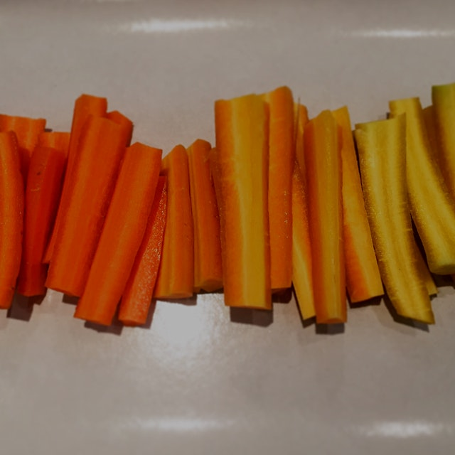 A pile of rainbow carrots are a great starting point for any platter of appetizers. #nofoodwaste ...