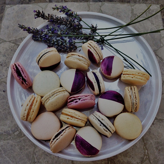 My French macarons theory: Italian meringue method yields the best shell- smooth on the surface c...