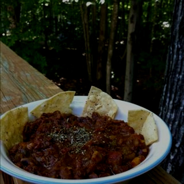 Home in NH for some hardy organic bean chili. It's how we do. #livefreeordie