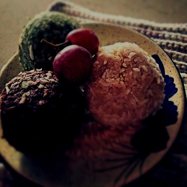 Coconut Treats! Lemon, Mocha & Matcha :)
