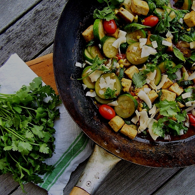 summer vegetable coconut curry http://jackienewgent.com/2015/07/curry/