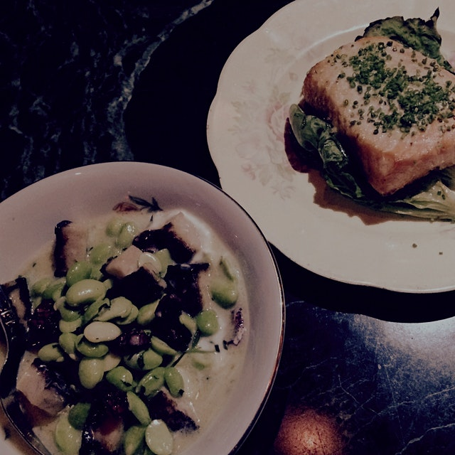 Sophisticated Tapas at Model Milk's new sister restaurant Pigeonhole - Edamame paired with Rabbit...