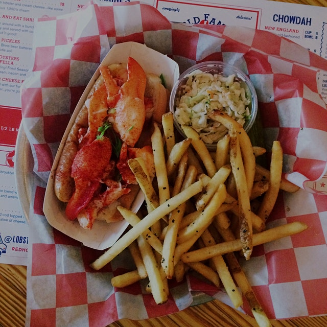 Lobster roll, Connecticut style at Red Hook Lobster Pound