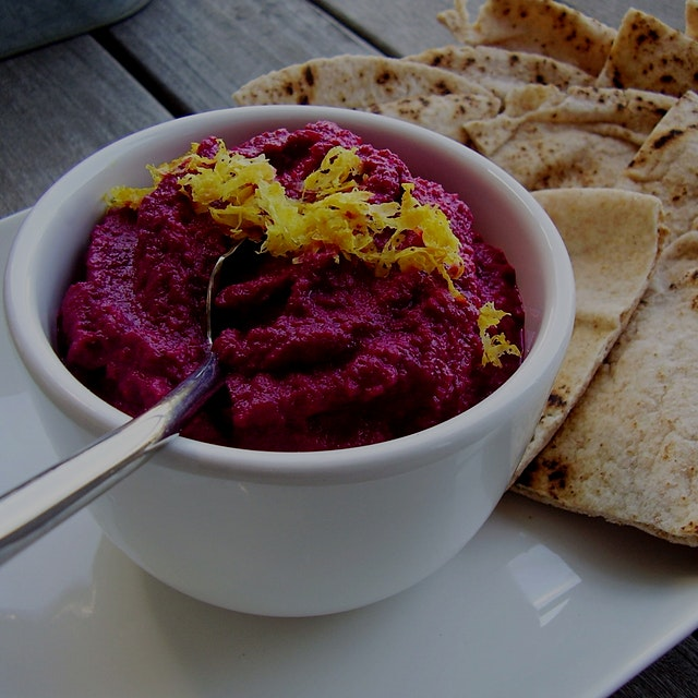 Can't beat the beauty of nature! Just beet it with this red beet baba ghanoush!  http://jackienew...