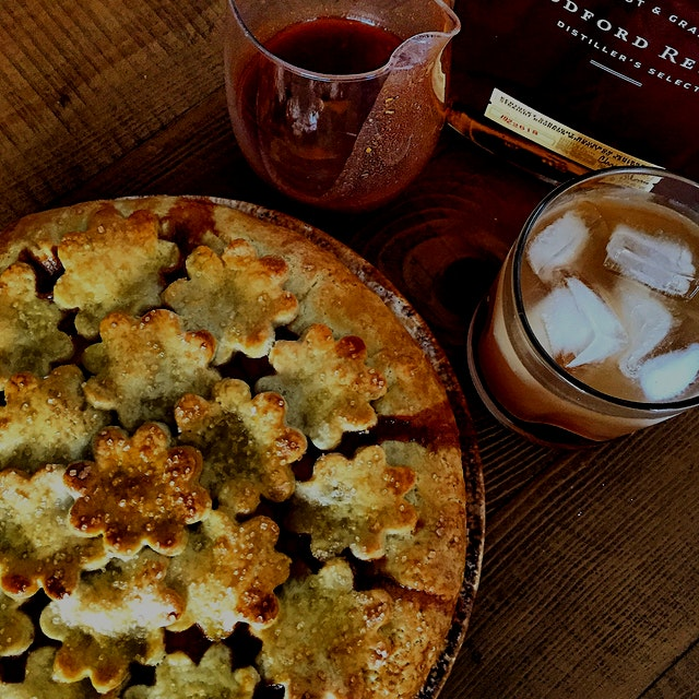 Paprika Peach Pie. Awesome combo of sweet heat and spices against the fresh peaches. And bonus- t...