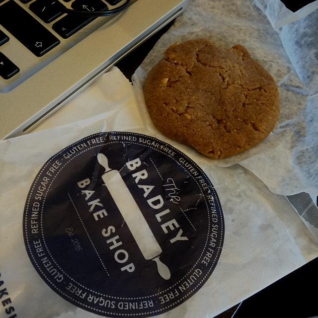 Great food stand find today at the Rutherford Farmers' Market...PB Banana Cookie! #TheBradleyBake...
