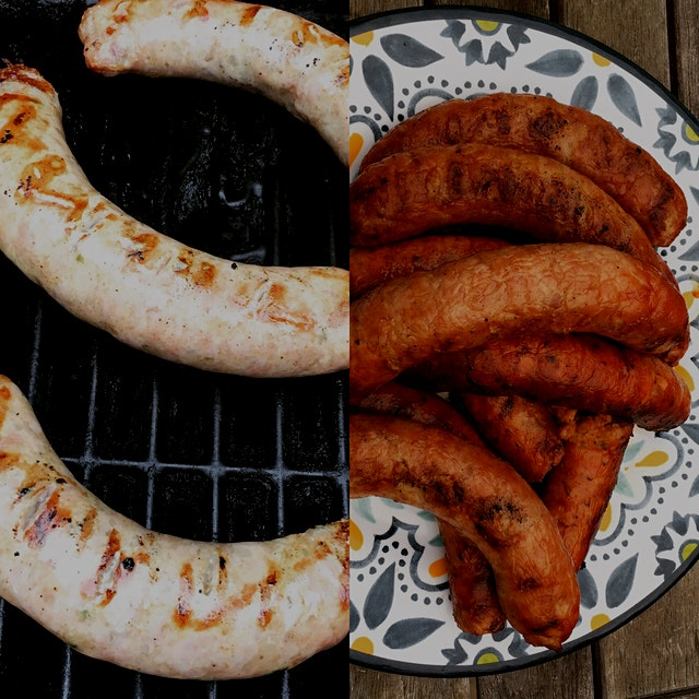 Here's how you tell if you have a real deal sausage...they don't shrink on the grill!! Check out ...