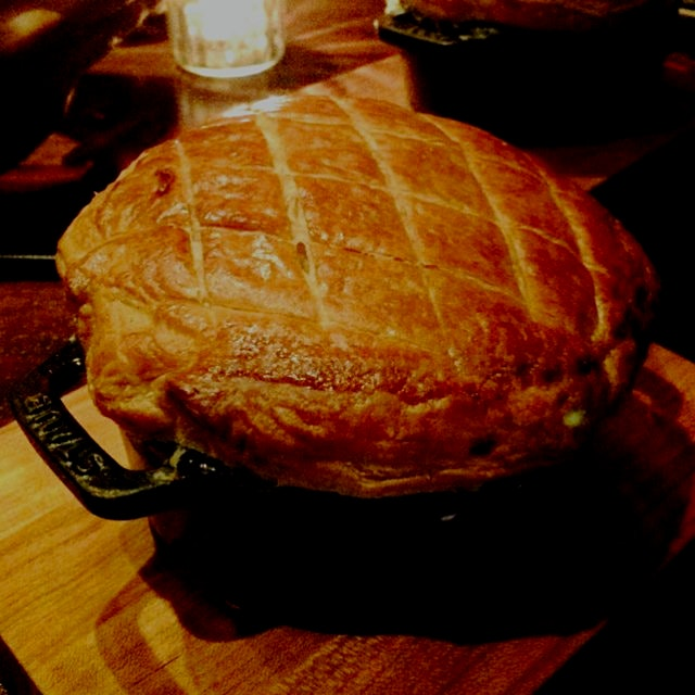 Chicken pot pie with seared Foie gras at Nomad Bar NYC
