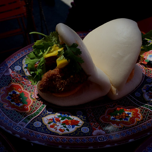 Crispy avocado bao. Put anything in bao and I will eat it.