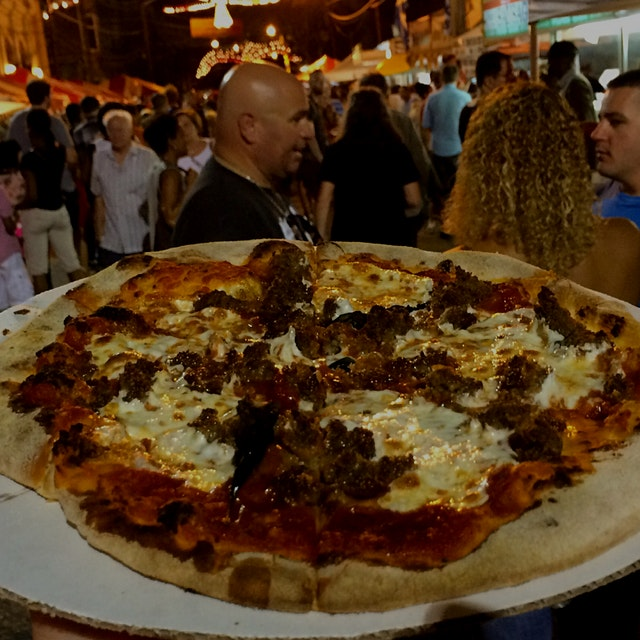 Favorite thing I ate at #lafestaitaliana in Jersey City, the brick oven pizza from Pure and Simpl...