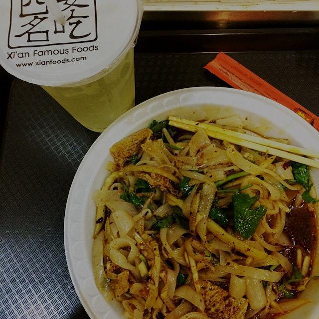 Cold noodles at Xian Famous Foods