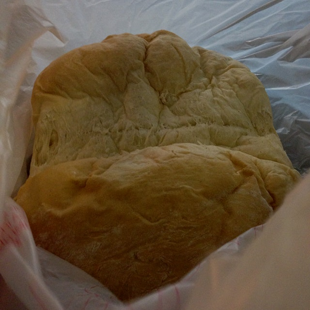 Heavenly bread on Moloka'i -- still warm and filled with cinnamon sugar, butter and cream cheese!