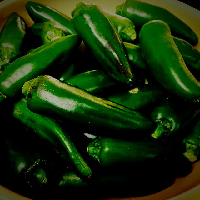 I ran out of pickled jalapeños, so that is what I will do with these beauties!!!