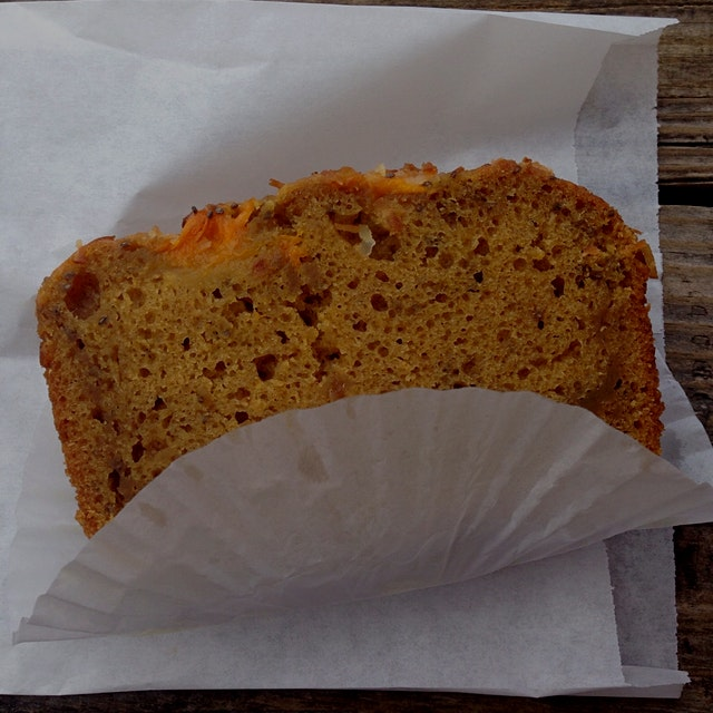 Luscious mango coconut chia bread....vegan, too!