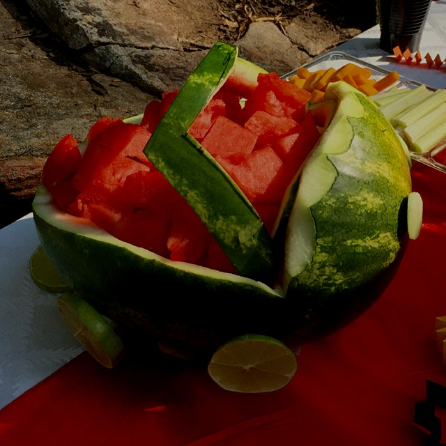 Watermelon car created by my daughter in law for little grandson's birthday. This car's miles per...