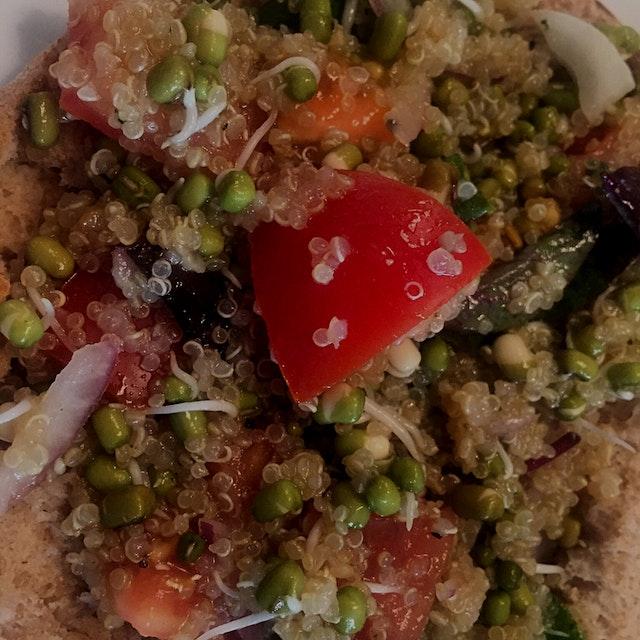 Kinoa salad made by our Purpledinner host in Tromsø-Norway