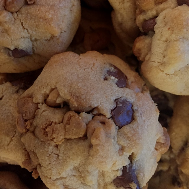 Peanut butter chocolate chip cookies were a crowd-pleaser for young and old alike. Nothing high b...