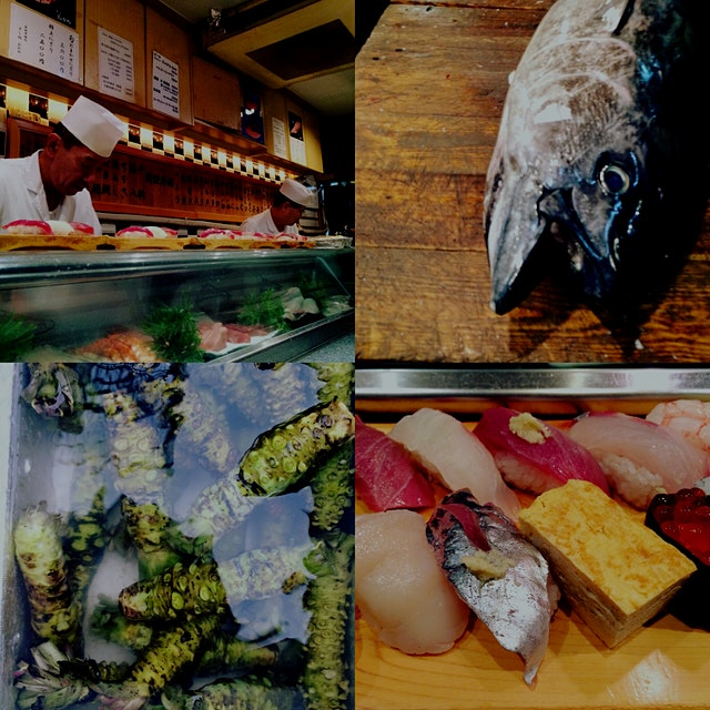 The freshest sushi breakfast at the Tsukiji Fish Market in Tokio