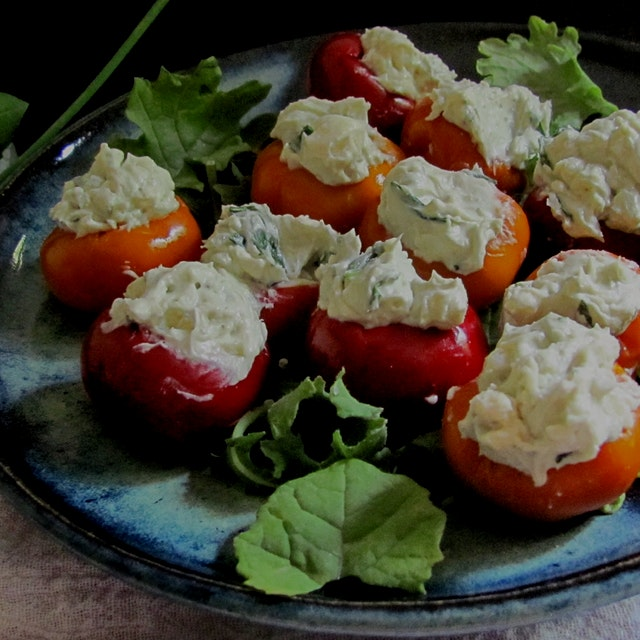 Blue Cheese Stuffed Pepper Bombs. Rock these at your next party or midnight fridge raid!