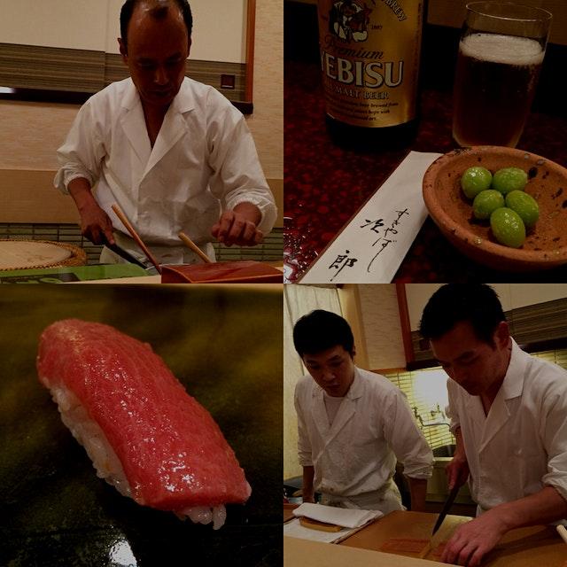 Sushi at Jiro's in Roppongi, Tokyo