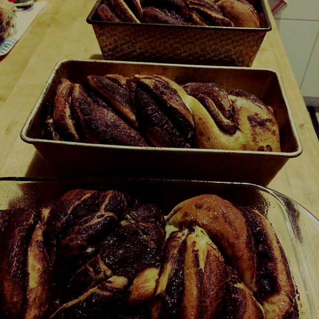 chocolate babka for Rosh Hashanah