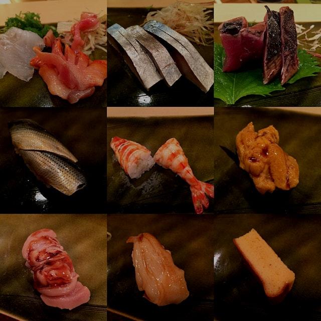 Sashimi & Sushi snapshots from Sukiyabashi Jiro, Roppongi Hills