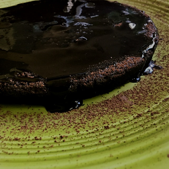 Made a flourless chocolate cake and dark chocolate glaze for Mom's birthday and it was magnificent.