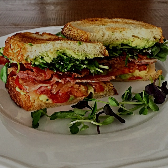 Why can't I have a BLT for breakfast? Surely the kimchi and avocado make up for the bacon 😊
