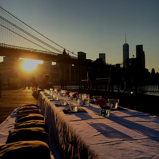 Our #DUTB #popup last night at Brooklyn Bridge Park was a great success! Shoutout to Chef Shuchi ...