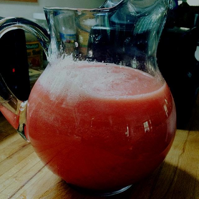 Last watermelon of the season.