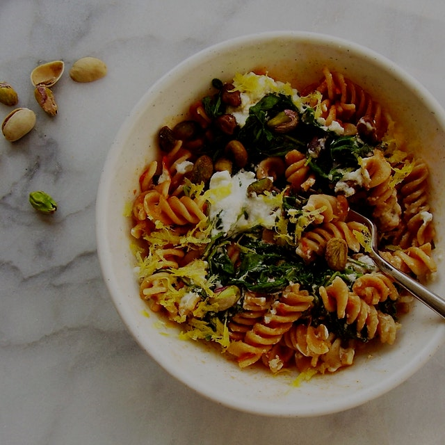 Make your own frozen entree..or try mine! Make-Ahead Fusilli Pasta Bowl: http://jackienewgent.com...