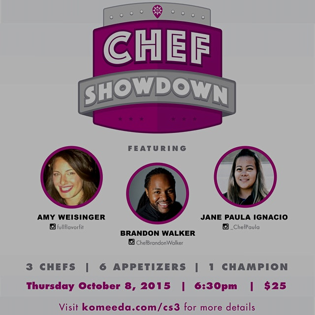 Chef Showdown #3 going down! Check out our participating chefs!