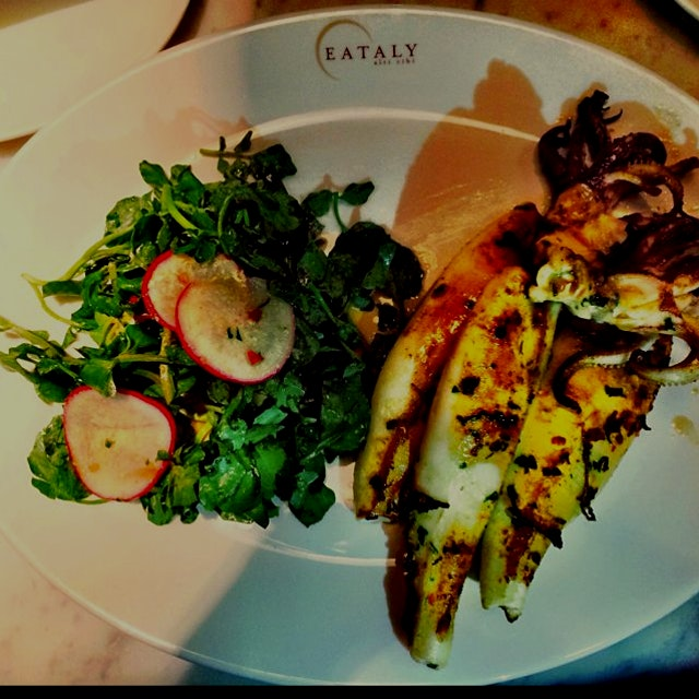 Couldn't get to Montauk this summer, but got a taste of it' -spicy Montauk squid at Eataly with @udi