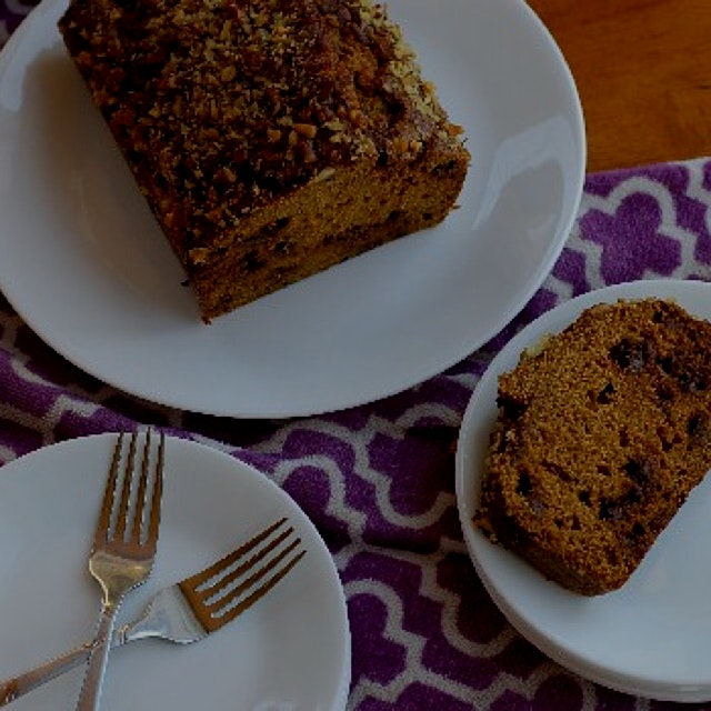 The latest recipe from my food blog,  Chocolate Chip Pumpkin Bread