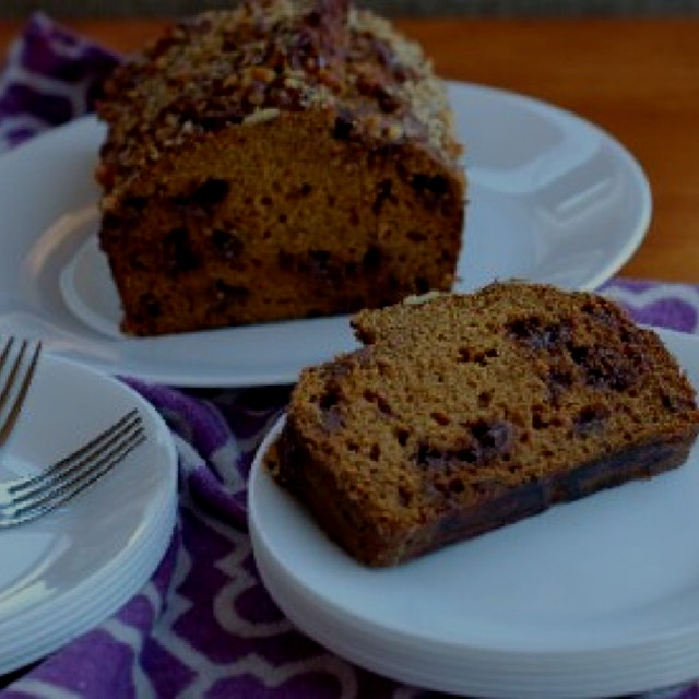 The latest recipe from my food blog, Chocolate Chip Pumpkin Bread.