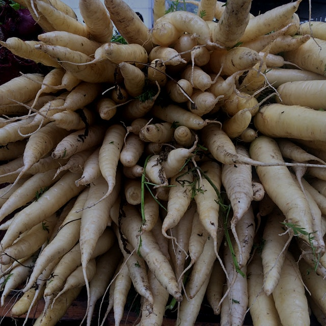White carrots @ USQ greenmarket. Beauties, no?