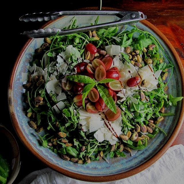 Perfect fall salad. Deb'sPots wood fired bowl.