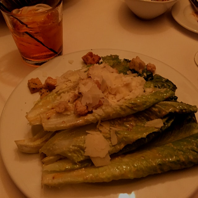 A classic table-side Caesar salad -- only in Vegas