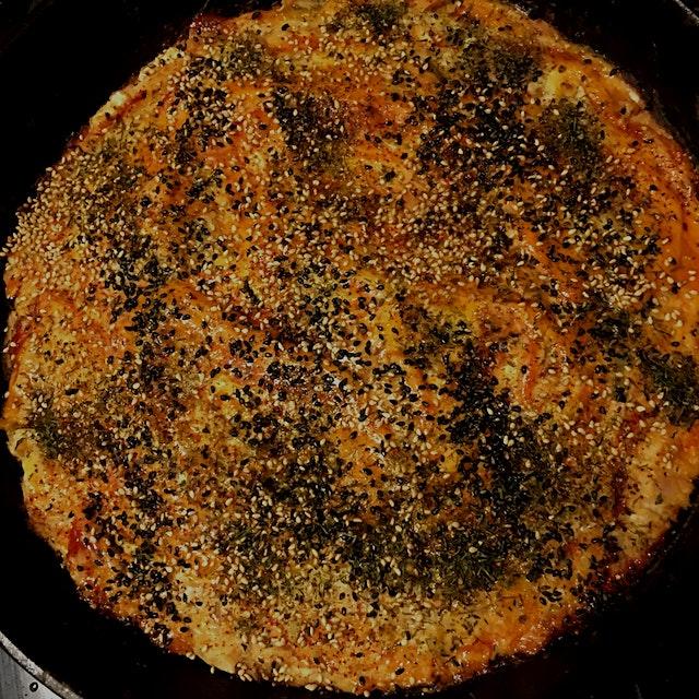 Taro and tuna okonomiyaki