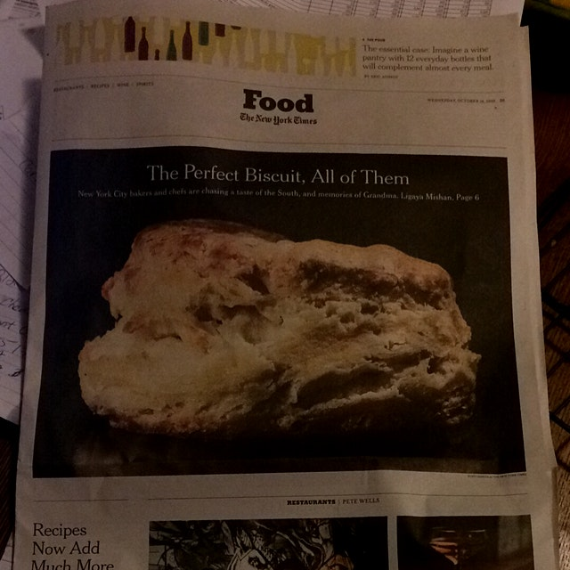 Lucky enough to be one of those reviewed in the NY Times Food Section. #brooklynbiscuitLove