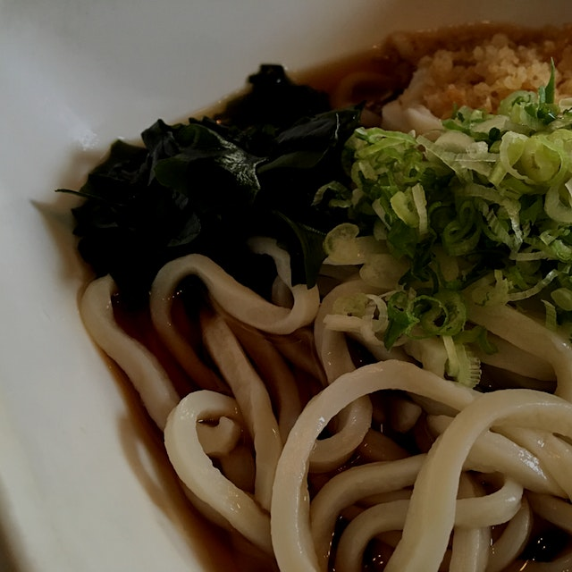 Slurped up this delicious, chilled udon soup. The broth is complex, and the noodles have great te...