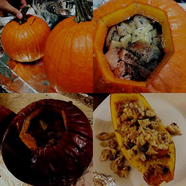 Stuffed Pumpkin from NPR recipe