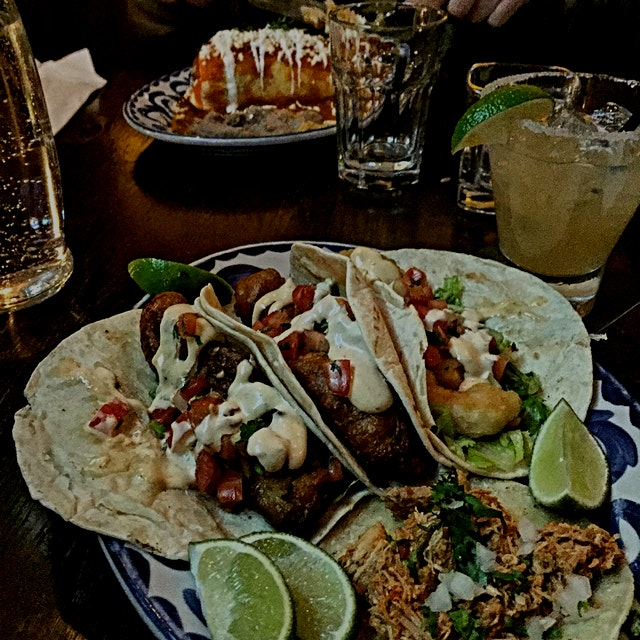 We tried a New Mexican spot here in Vancouver with @Anita this eve. Fish tacos and Tamarind marga...