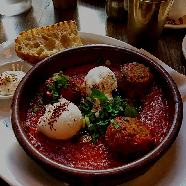A brunch fit for a Moroccan queen! This cafe doesn't just feed. It inspires! Really soft poached ...