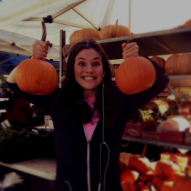 Celebrating Food Day with my weird pumpkin. #GreenYoSelf @FoodDay2015