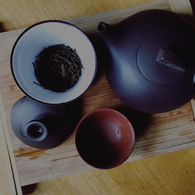 Houjicha tea is perfect for a grey Sunday.
