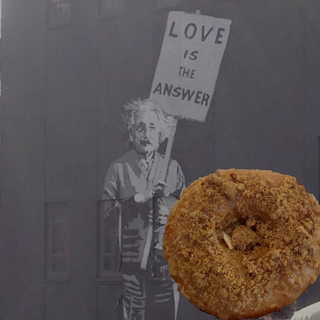 Munching on Cafe au Lait dough doughnuts on the High Line nyc